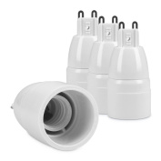kwmobile 4x lamp socket adapter converter G9 bulb socket ot E14 bulb socket for LED-, Halogen-, Energy saving lamps
