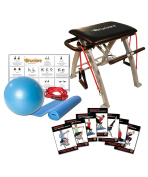 Bruciare X100 Total Fitness Chair (Bundle) with Spin Seat 7 DVD's Yoga Pilates + Mat + Ball + Bands