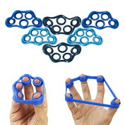 5BILLION Hand Grip Strengthener & Finger Stretcher - Strength Trainer for Forearm Exercise, Guitar Finger Strengtheners and Rock Climbing Grips Workout - 2 Choices