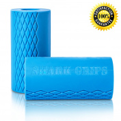 Thick Bar Grips Turns Barbell, Dumbbell, and Kettlebell Into Shark Gripz For Fat Bar Training And Muscle Growth. Strengthen Your Forearm, Biceps, Triceps, Chest. CrossFit, Strongman, Bodybuilding