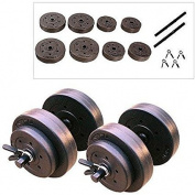 Vinyl Dumbbell Set, 18kg Keep Yourself Fit and Toned with This Dumbbell Set.
