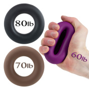 Hand Grip by Iron Crush® - A Hand & Forearm Exerciser and Strengthener - Set of 3 Level Resistance - 2 Year Warranty - Extension, Crushing & Pinch Grip Training Solution - Best Hand Grips on the Market!