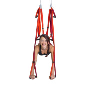 YOGABODY Naturals Yoga Trapeze-Yoga Swing/Sling/Inversion Tool, Orange