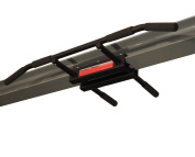 Firstlaw Fitness - 270kg Weight Limit - I-Beam Pull Up Bar - Long Bar with Bent Ends - Durable Rubber Grips - Red Label - Made in the USA!