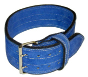 Ader Leather Power Weight Lifting Belt- 10cm Blue
