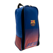F.c. Barcelona Boot Bag Nylon Bootbag Zipped Opening Double Zip Pulls Approx 35cm X 18cm X 12cm