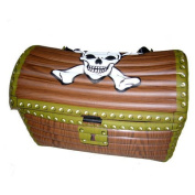 Inflatable Pirate Treasure Chest, brown 60x30x30cm