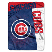 The Northwest Company MLB Chicago Cubs Strike Raschel Blanket, 150cm by 200cm