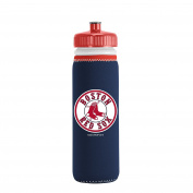 MLB Boston Red Sox Van Metro Squeezable LDPE Water Bottle, Blue, 650ml