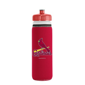 MLB St. Louis Cardinals Van Metro Squeezable LDPE Water Bottle, Red, 650ml