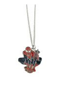 Los Angeles Angels Spiderman Pendant Silver Chain Necklace Red Jewellery Gift MLB