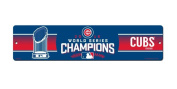 MLB Chicago Cubs World Series Champs Plastic Street Signmlb World Series Champs Plastic Street Sign, Blue, 41cm