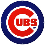 Chicago Cubs Lasercut Steel Logo Sign Wall Sign 60cm x 60cm