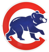 Chicago Cubs Bear in C Lasercut Steel Logo Sign Wall Sign 50cm x 50cm