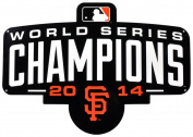 San Francisco Giants 2014 Champs Lasercut Steel Logo Sign Wall Sign 60cm x 60cm