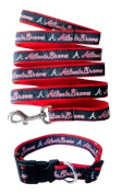 Pets First Atlanta Braves Nylon Collar and Leash for Pets