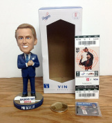 2016 Vin Scully Legendary Announcer Bobblehead AND Commemorative Coin AND Season Ticket Holder HARD TICKET LAST GAME ANNOUNCED LA Dodgers vs. SF Giants