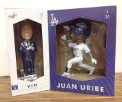 Vin Scully 2016 and Juan Uribe 2015 Los Angeles Dodgers STADIUM PROMO Bobblehead SGA