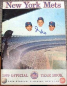 1969 New York Mets Yearbook autographed by Tug McGraw, Tommie Agee, Ed Kranepool, Jane Jarvis, and more
