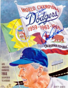 1966 Los Angeles Dodgers Yearbook autographed by Maury Wills and Johnny Podres