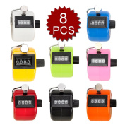 (Price/8 pcs)GOGO Tally Counter, Plastic Tally Counter Clicker, Mixed Colours
