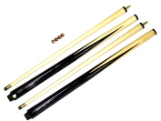 2 PIECE 2 x SHORT POOL 90cm CUES. IDEAL FOR KIDS & SMALL SPACES + 4 FREE TIPS**