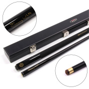 BCE JIMMY WHITE Metallic BLACK Simulated Graphite 2pc Snooker Cue & HARD CASE