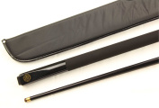 BCE Jimmy White Simulated Graphite Metallic BLACK Snooker & Pool Cue & BCE SOFT Case