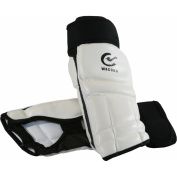 Wacoku WTF Approved Foot Guard - White, Large