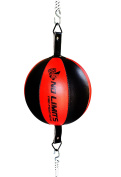AQF Leather Double End Dodge Speed Ball MMA Boxing Floor to Ceiling Punch Bag