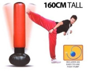 NEW INFLATABLE PUNCH TOWER BAG 160CM STRESS BUSTER FOOT PUMP FUN FREE STANDING