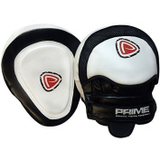 Prime Leather Focus Pads Hook and Jab Pads Muay Thai Martial Arts Kickboxing Punching Training Equipment UFC MMA Strike Shield