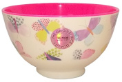 Small Melamine Bowl Two Tone with Butterfly Print by Rice DK