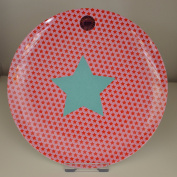 Kids Melamine Lunch Plate with Girls Star Print by Rice DK