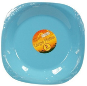 Gone Outdoors Picnic Forest Camping Plastic Round Large 23cm Dinner Plate Pack of 2 - Blue