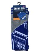 Doctor Who Blue & Grey Tardis Mens Official Socks UK Size 6 - 11