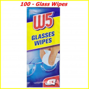 100 CLEANING WIPES Suitable to Clean glasses, cameras, binoculars, car mirrors, helmet visors, computer screens, televisions, mobile phones iphone Android