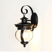 American Style Outdoor Waterproof Wall Lamp Outdoor Balcony Patio Glass Lamps Led