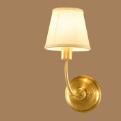 Aisle Wall Lamp European Style Bedroom Bedside Mirror Front Lights American Style Pure Copper Lighting