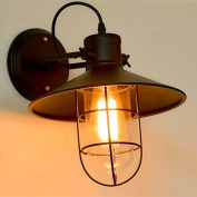 KosiLight - Vintage Wall Light with Black Wire Cage - Selena