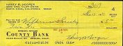 HARRY HOOPER 1971 SIGNED JSA CERTED cheque AUTHENTIC AUTOGRAPH