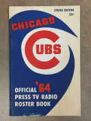 Chicago Cubs MLB BASEBALL MEDIA GUIDE 1964 EX/NM