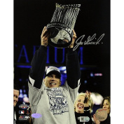 Joe Girardi with 2009 World Series Trophy Vertical 8x10 Photograph - MLB Authentication - Licenced Sports Collectible