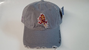 New Arizona State Sun Devils Grey Pre-Ripped Buckle Hat