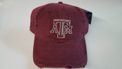 New Texas A & M Burgundy Pre-Ripped Buckle Hat