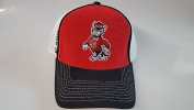 New NC State Wolfpack Red & Black Hook and loop Mesh Hat