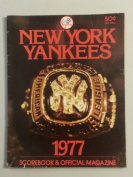 1977 BB Programme Yankees vs Brewers - Scored New York Yankees Good to Very Good