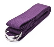 Cosmos ® Cotton Yoga Accessories /Mat Strap with D-Ring for Pilates Stretch, Exercises, Aerobics to Extend Reach, Grasp Limbs