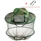 Tobey Camouflage Mosquito Hat with Head Net Mesh Bug Hat Beekeeper Hat Beekeeping Face Mask