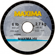 Maxima Fishing Line Guide Spools, High Visibility Yellow, 2.7kg/600-Yard